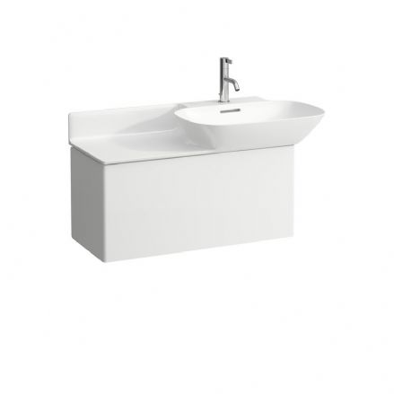 813301 - Laufen Ino 900m x 450mm Washbasin (Left Shelf) & Vanity Unit - 8.1330.1